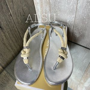 Michael Kors Holly Jelly Sandal Silver W AUTHENTIC